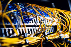 Fiber-optic equipment Royalty Free Stock Image