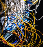 Fiber-optic equipment Royalty Free Stock Images
