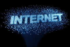 Fiber optic - internet Royalty Free Stock Photo