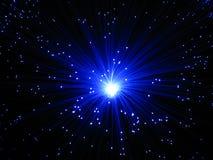 Fiber optic lamp. Blue fiber optic light Royalty Free Stock Image