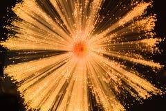 Fiber Optic Light Blur. The blur of a fiber optic spray of light on a black background stock photos