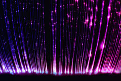 Fiber optic light cables in the light sensory room. A photograph of fiber optic light cables in a light sensory room designed to calm children with learning Stock Photos