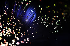 Fiber optic light effect Stock Images