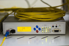 Fiber Optic Multiplexor. Stock Image