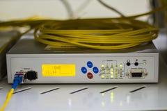 Fiber Optic Multiplexor. Telecommunication equipment. Fiber Optic Multiplexor Stock Image