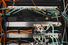 Fiber optic network Stock Photos