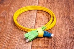 Fiber optic patch cord Stock Photos