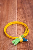 Fiber optic patch cord Royalty Free Stock Image
