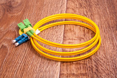 Fiber optic patch cord Stock Image