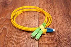 Fiber optic patch cord Stock Images