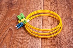 Fiber optic patch cord Royalty Free Stock Photo