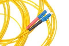 Fiber optic patchcords Stock Photos