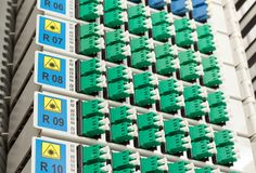 Fiber optic rack Stock Photos