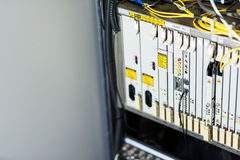 Fiber optic with servers in a technology data center Royalty Free Stock Photography