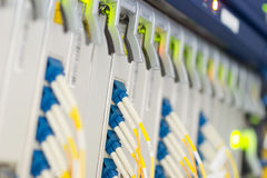 fiber optic with servers in a technology data center Stock Photography