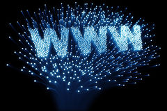 Fiber optic - WWW Royalty Free Stock Image