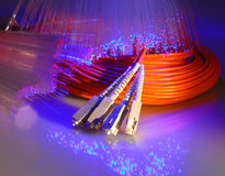 Fiber optical background stock photography