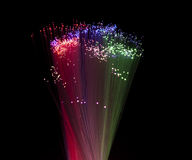 Fiber optical background Stock Image