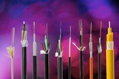 Fiber optical cable collection Stock Photos
