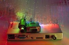 Fiber optical hub background Royalty Free Stock Photography
