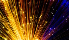 Fiber optical network cable Royalty Free Stock Photos