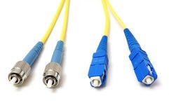 Fiber optical network cable. Isolated Stock Photography