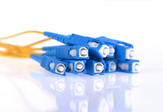 Fiber optical network cable Stock Photos