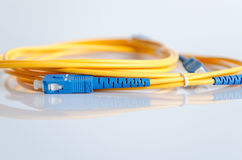 Fiber optical patch cord Stock Images