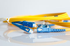 Fiber optical patch cord Stock Photography