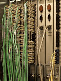 Fiber Optics. Behind the scenes look at fibre optics and technology communications Stock Photos