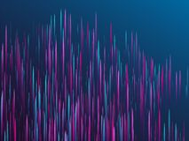 Fiber optics abstract cyber background. Glowing lines falling abstract big data concept tech vector background. Digital geometric blue purple lines streams vector illustration