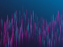 Fiber optics abstract cyber background. Glowing lines falling abstract big data concept tech vector background. Digital geometric blue purple lines streams royalty free illustration