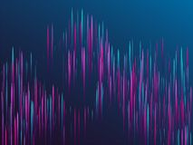 Fiber optics abstract cyber background. Glowing lines falling abstract big data concept tech vector background. Digital geometric blue purple lines streams stock illustration