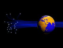 Fiber Optics And Earth Stock Photos