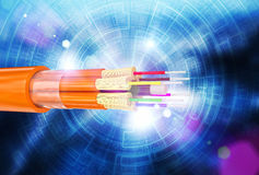 Fiber optics cable Stock Photography