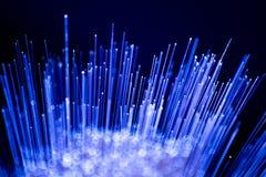 Fiber optics close-up, modern computer Stock Image