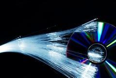 Fiber optics and compact disc Stock Image