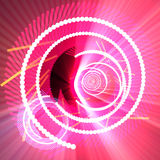 Fiber optics data spiral glowing. Spiral of glowing communications fiber optics internet data concept background glowing light Stock Image