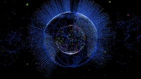 Fiber Optics and Earth Globe stock video