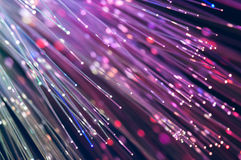 Fiber optics lights abstract background Stock Image