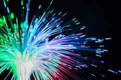 Fiber optics lights abstract Stock Photos