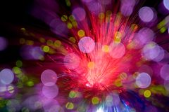 Fiber Optics looks like star MACRO. Abstract shoot of fiber optic with soft focus royalty free stock images