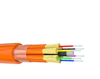 Fiber optics on white Stock Image