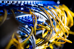 Fiber-optisk utrustning Fotografering för Bildbyråer