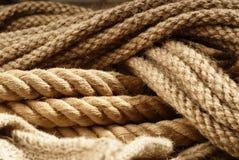 Fiber ropes closeupen Royaltyfri Bild