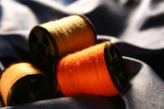 Fiber stitch. Colored fiber stitch stock photography