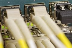 Fiber Switch Royalty Free Stock Photography