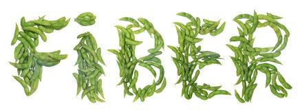 Fiber word arrange by green beans Stock Photos