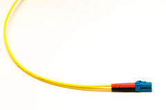 A fiberchannel cable. With LC connector Royalty Free Stock Photo
