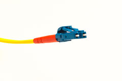 A fiberchannel cable. With LC connector Stock Images